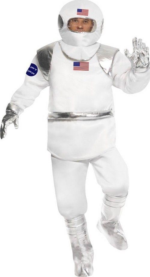 astronauten kost m amerikanischer raumfahrer anzug weiss silber g nstige faschings kost me bei. Black Bedroom Furniture Sets. Home Design Ideas