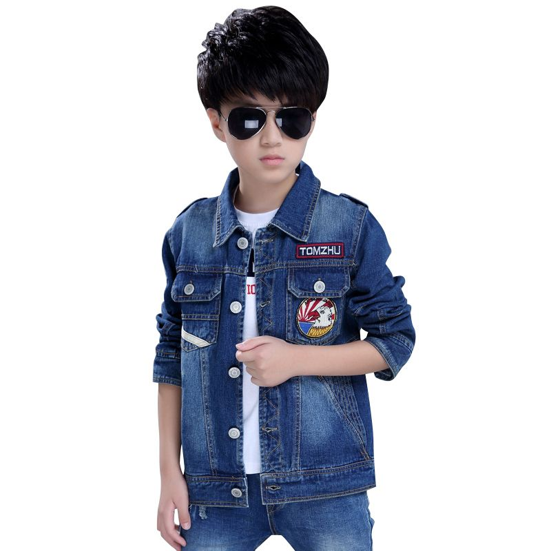 1a30f3798 Click to Buy    Eagle Design Boys Jeans Jacket Children Outerwear ...