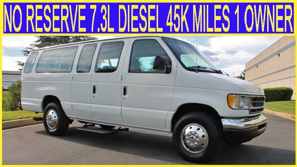 1998 Ford E Series Van No Reserve 7 3l Diesel 45k Miles 1 Owner