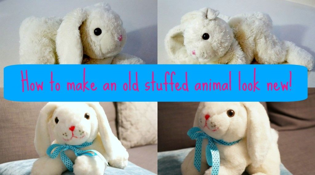 Can You Wash Stuffed Animals In The Washing Machine How To Make An Old Stuffed Animal Look New Again Clutterbug Washing Stuffed Animals Clean Stuffed Animals Sewing Stuffed Animals