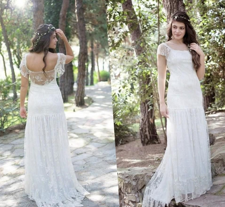 Beach wedding dresses can also be used for a Bohemian style wedding ...