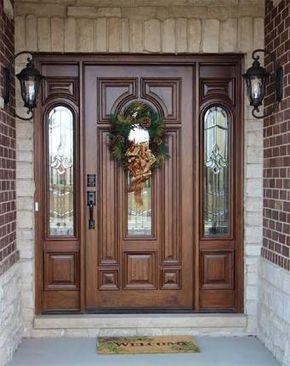 Puertas principales de madera buscar con google doors for Puertas grandes antiguas