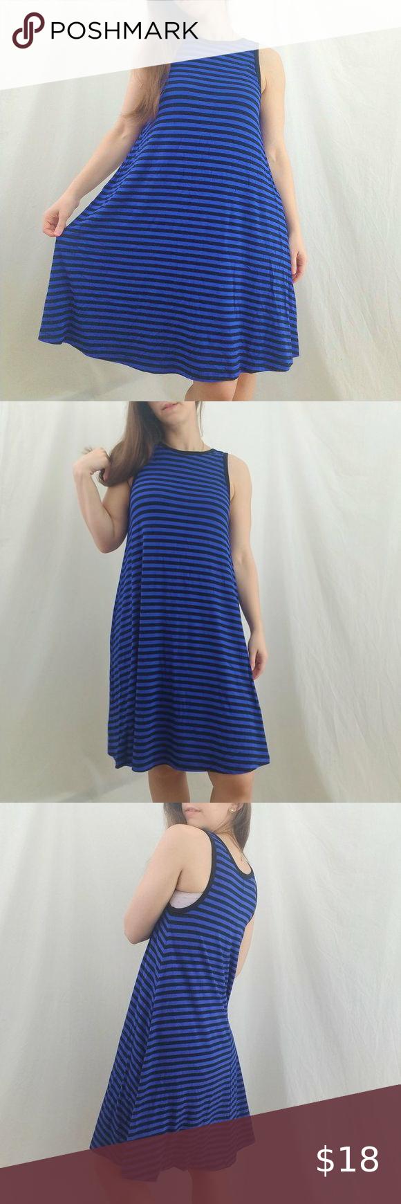Old Navy Black And Blue Striped Midi Dress Striped Midi Dress Navy Midi Dress Dresses [ 1740 x 580 Pixel ]