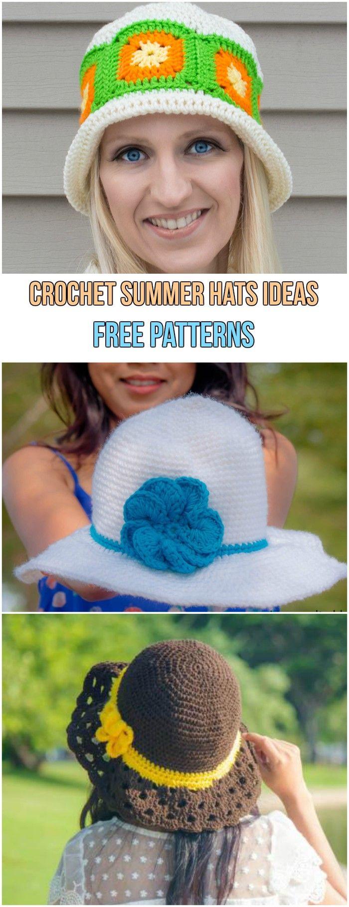 Crochet Summer Hats Ideas Free Patterns | Crochet summer hats ...