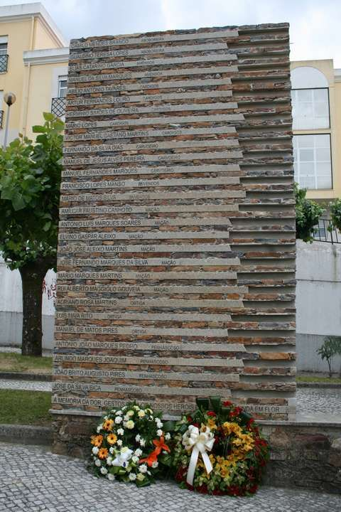 Neste monumento estão inscritos os nomes dos 28 filhos do Concelho que aí perderam a vida, localizado no Largo Combatentes da Grande Guerra, que passará a ...