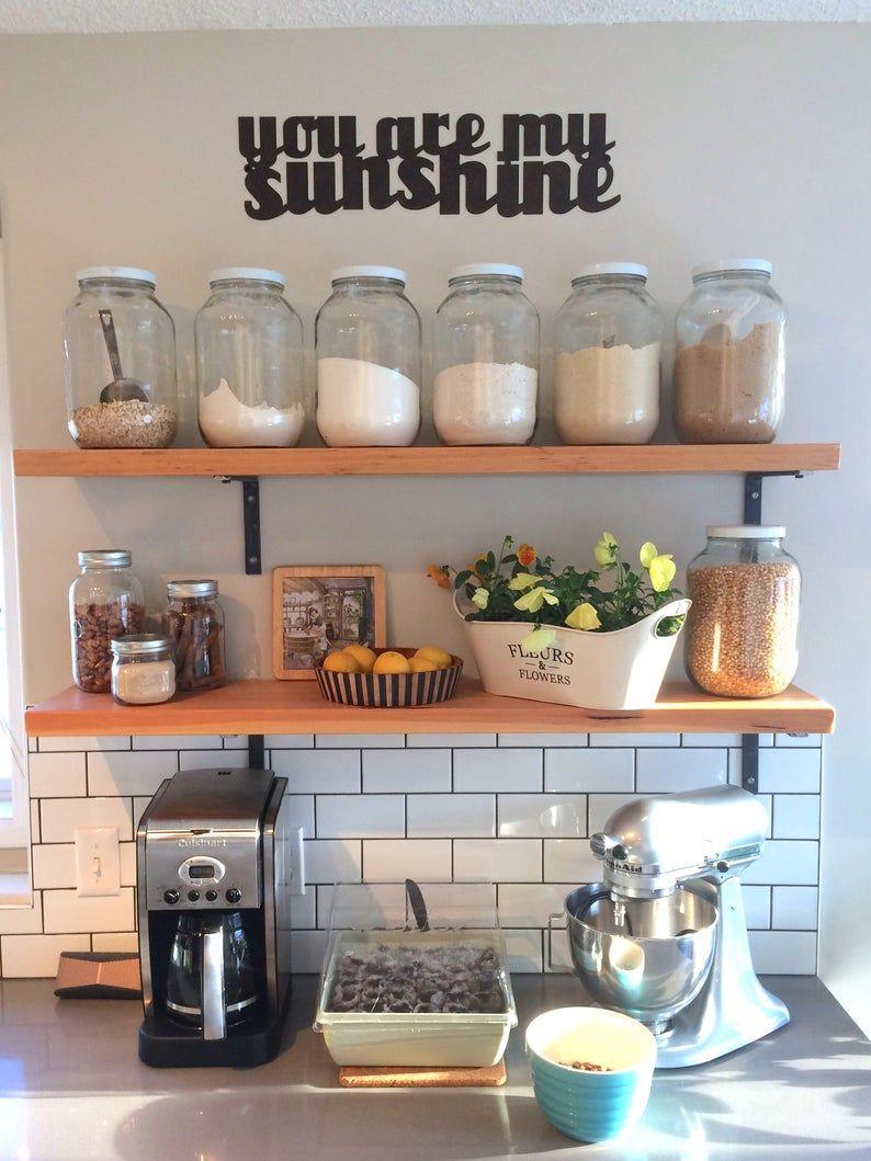 Metal Brackets For Open Shelving Z Bracket In Black Steel Etsy In 2020 Kitchen Remodel Kitchen Decor Coffee Bar Home