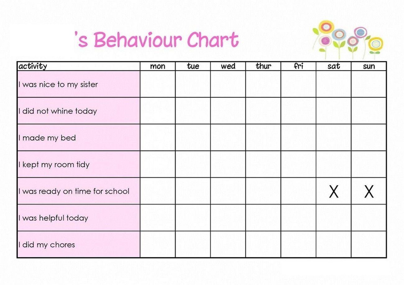 Behavior Reward Charts Behavior Chart Preschool Free Printable Behavior Chart Child Behavior Chart