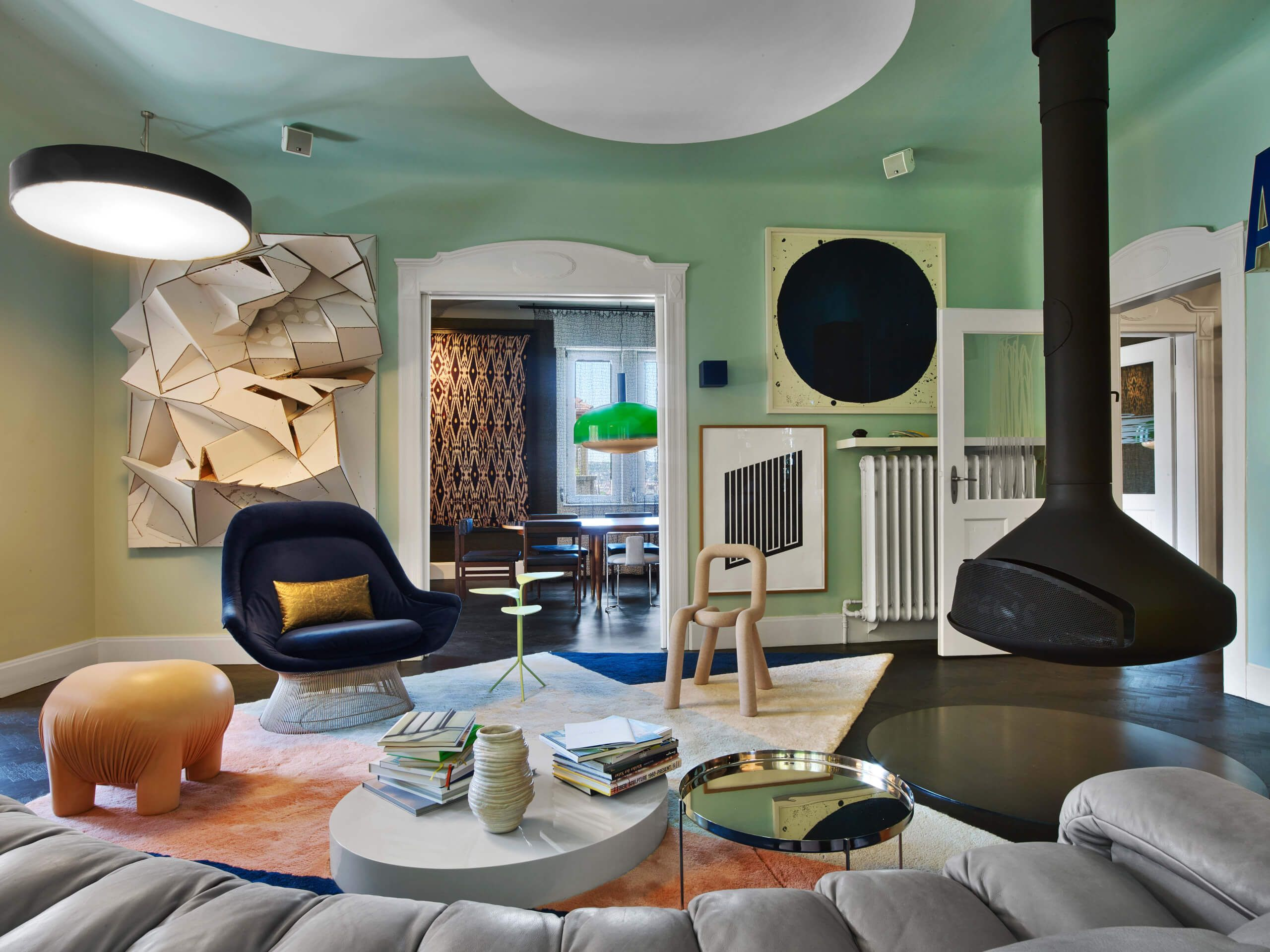 Colorful Eclectic Interior Design Is Collage Of Travels And