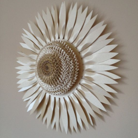 30cm Pearlescent Paper And Card Sunflower Wall Art Paper Flowers