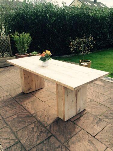 Gartentisch bauholz garten gartentisch holz for Bauholz tisch selber bauen