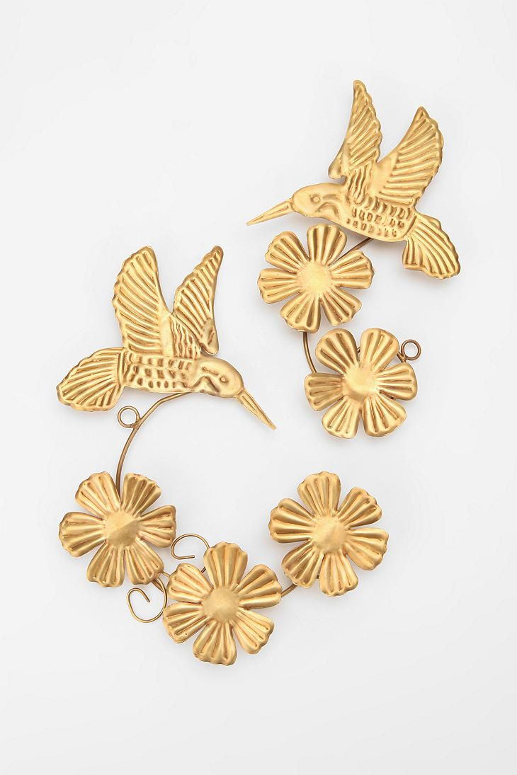 UrbanOutfitters.com > Pressed Hummingbirds Sculpture Wall Art - Set ...