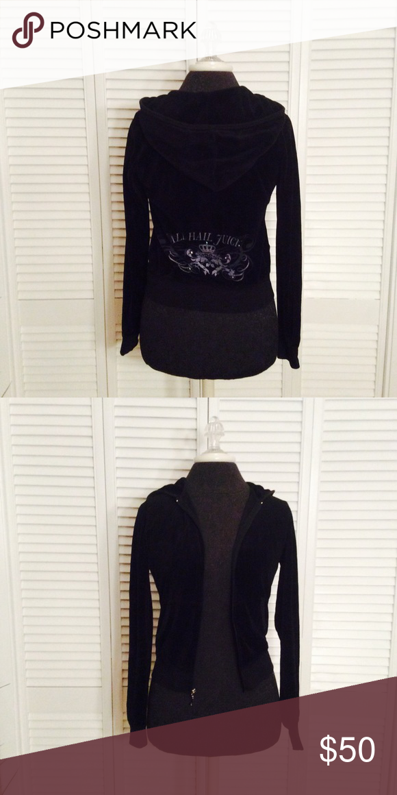 Juicy Couture Velour Great conduction, barely ever worn Juicy Couture Tops Sweatshirts & Hoodies