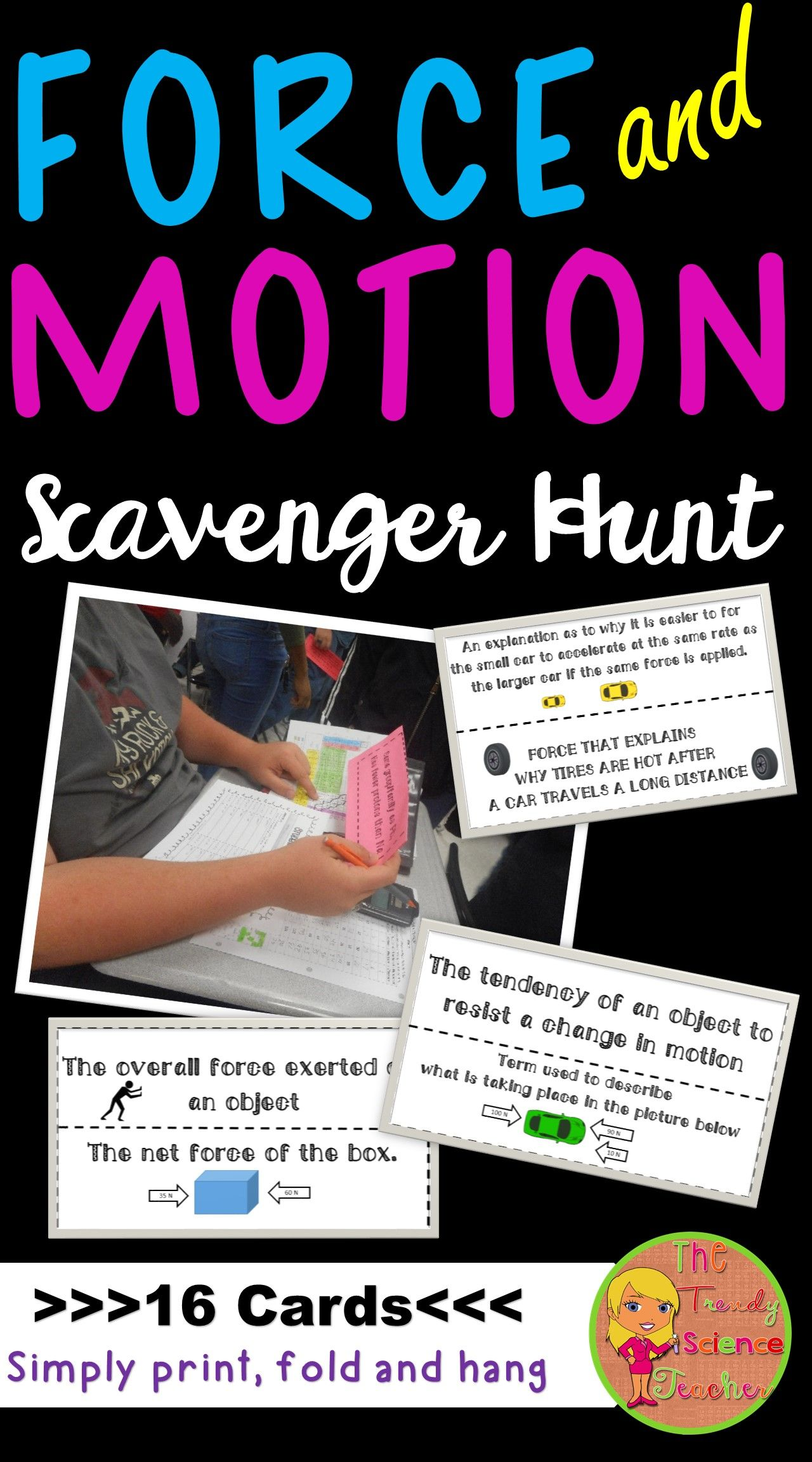 Force Amp Motion Scavenger Hunt Activity With Images