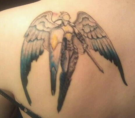 My Platinum Angel tattoo