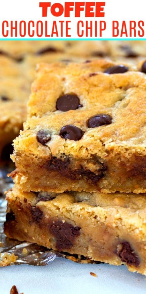 Photo of Toffee Chocolate Chip Bars – Spicy Southern Kitchen