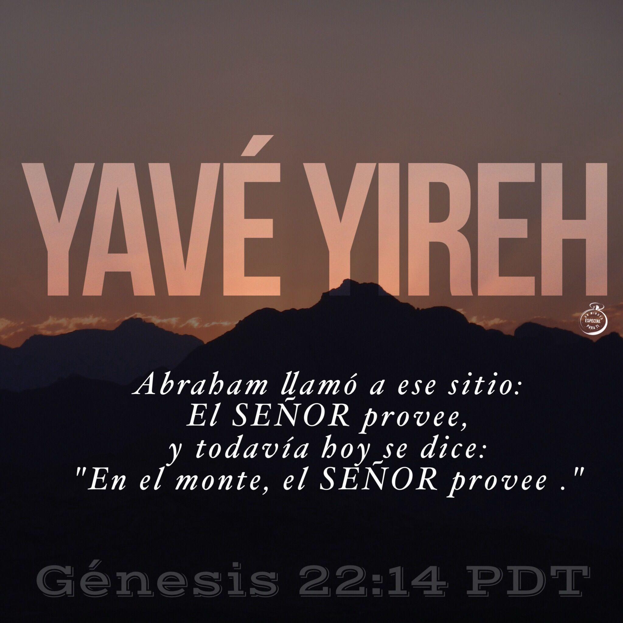 Genesis 22 14 Citas Decir No