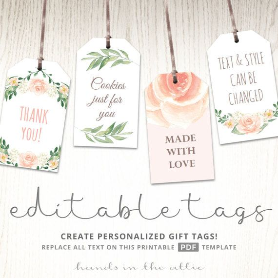 Printable Baby Shower Labels Editable Gift Tags Bridal Etsy Editable Gift Tags Baby Shower Labels Gift Tags Printable