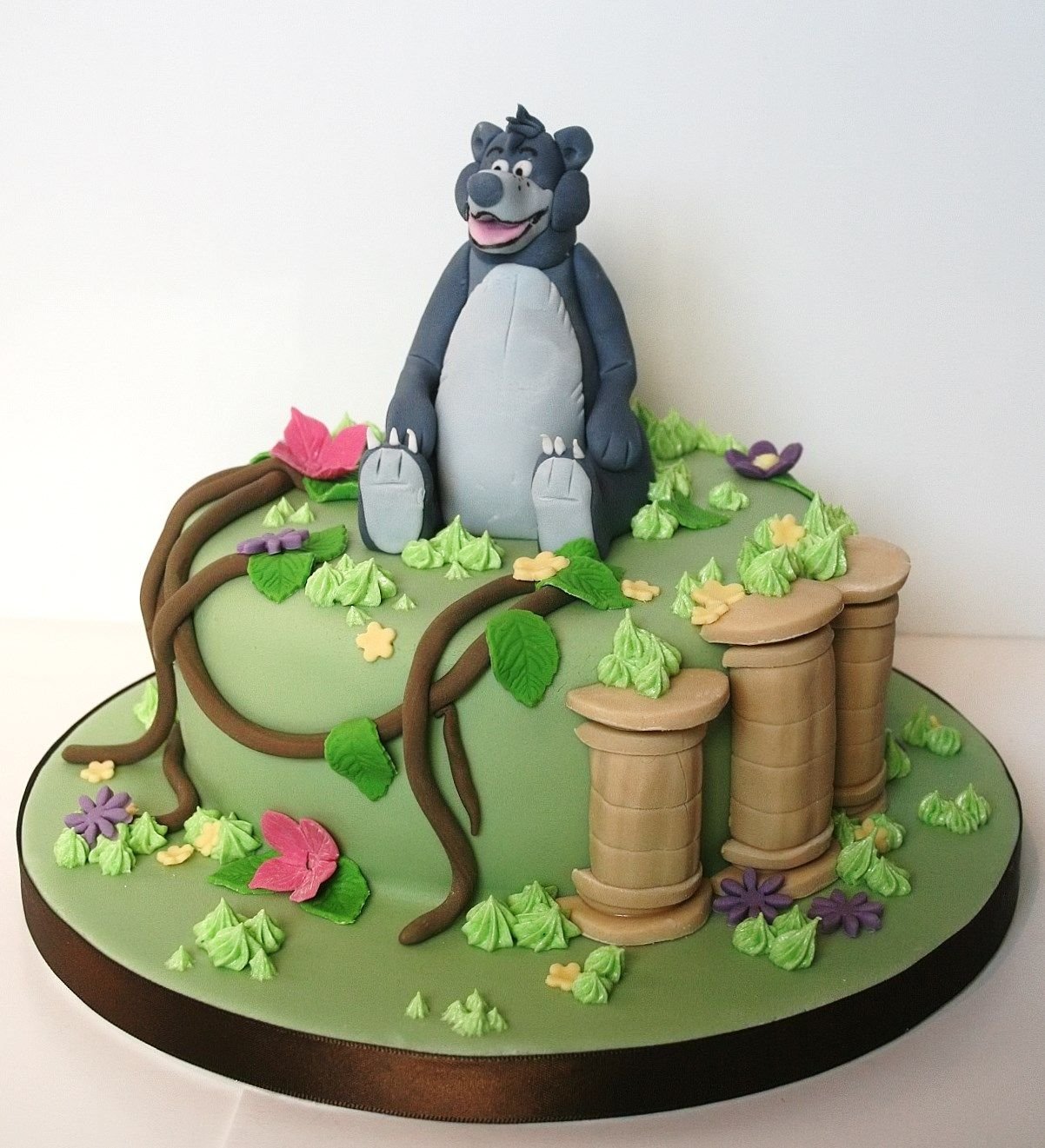 Jungle Book Baloo Cake Cakes Jungle Book Pinterest Cake