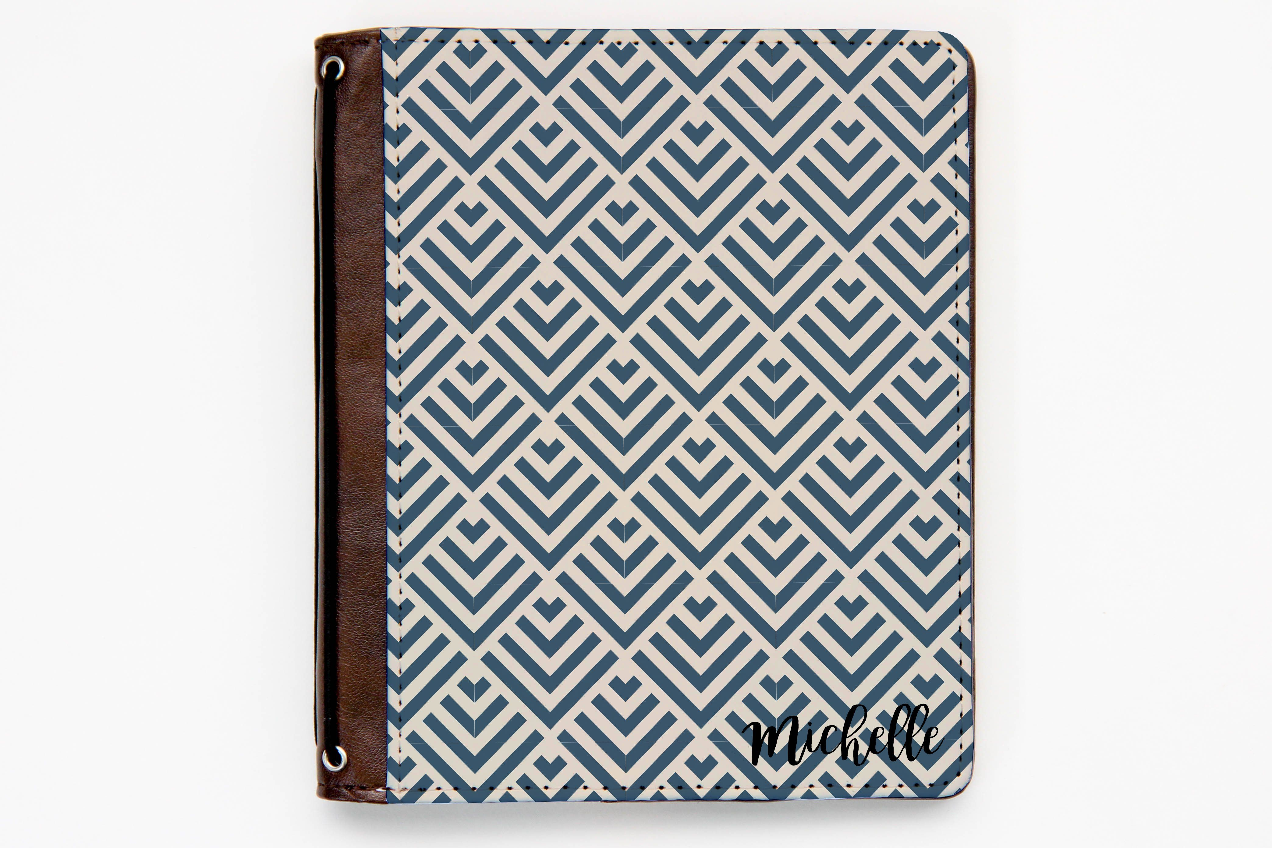 Art Deco Style Notebook Customizable Traveler S Notebook Cover Art Deco Triangles