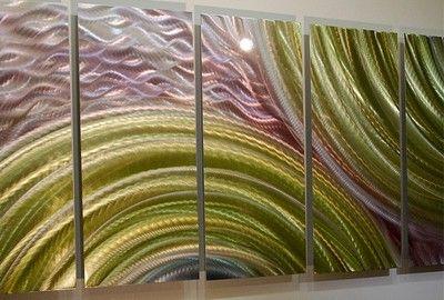 Abstract Contemporary Home Decor Metal Wall Art Eternal Optimist Jon Allen | eBay