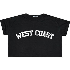 West Coast Crop Top T Shirt Tee Womens Girl Funny Fun Tumblr Hipster Swag Grunge Goth Punk Fashion C