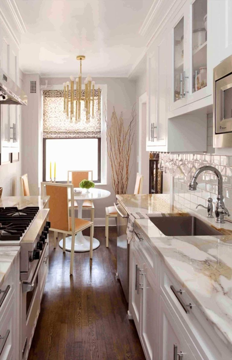 Tiny Galley Kitchen Designs Russia 2 #whitegalleykitchens
