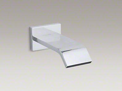 BathKOHLER   K 14676 CP   Loure  Wall mount 9 3 4  bath spout   Kelley  . 3 4 Bath Spout. Home Design Ideas