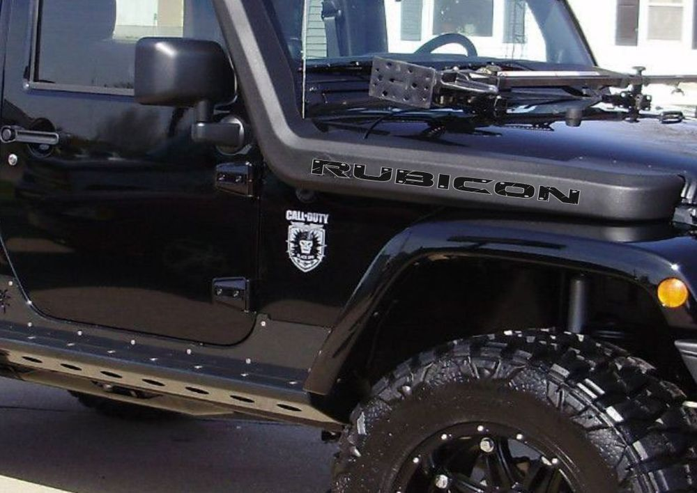 Pair Of Wrangler Decal Set Jeep Stickers Hood Fender Graphic Tj Jk
