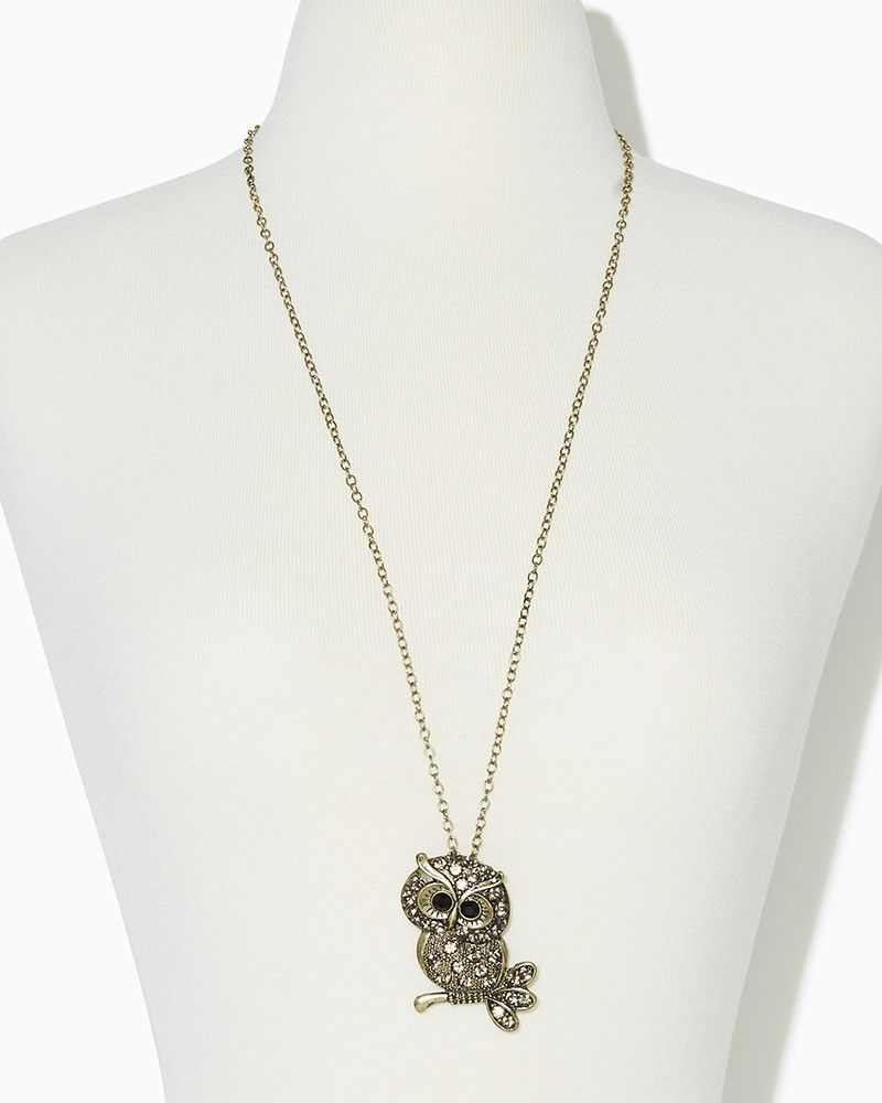 charming charlie   Branch Out Owl Necklace   UPC: 410007057882 #charmingcharlie