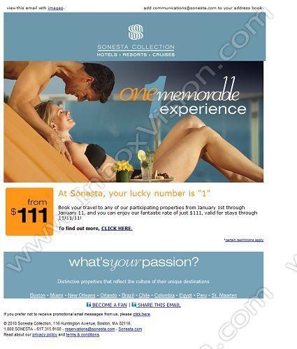 Company Sonesta International Hotels Subject Sonesta Offers