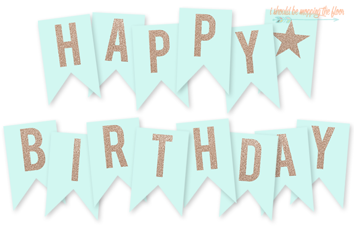 free printable happy birthday banner birthday ideas pinterest