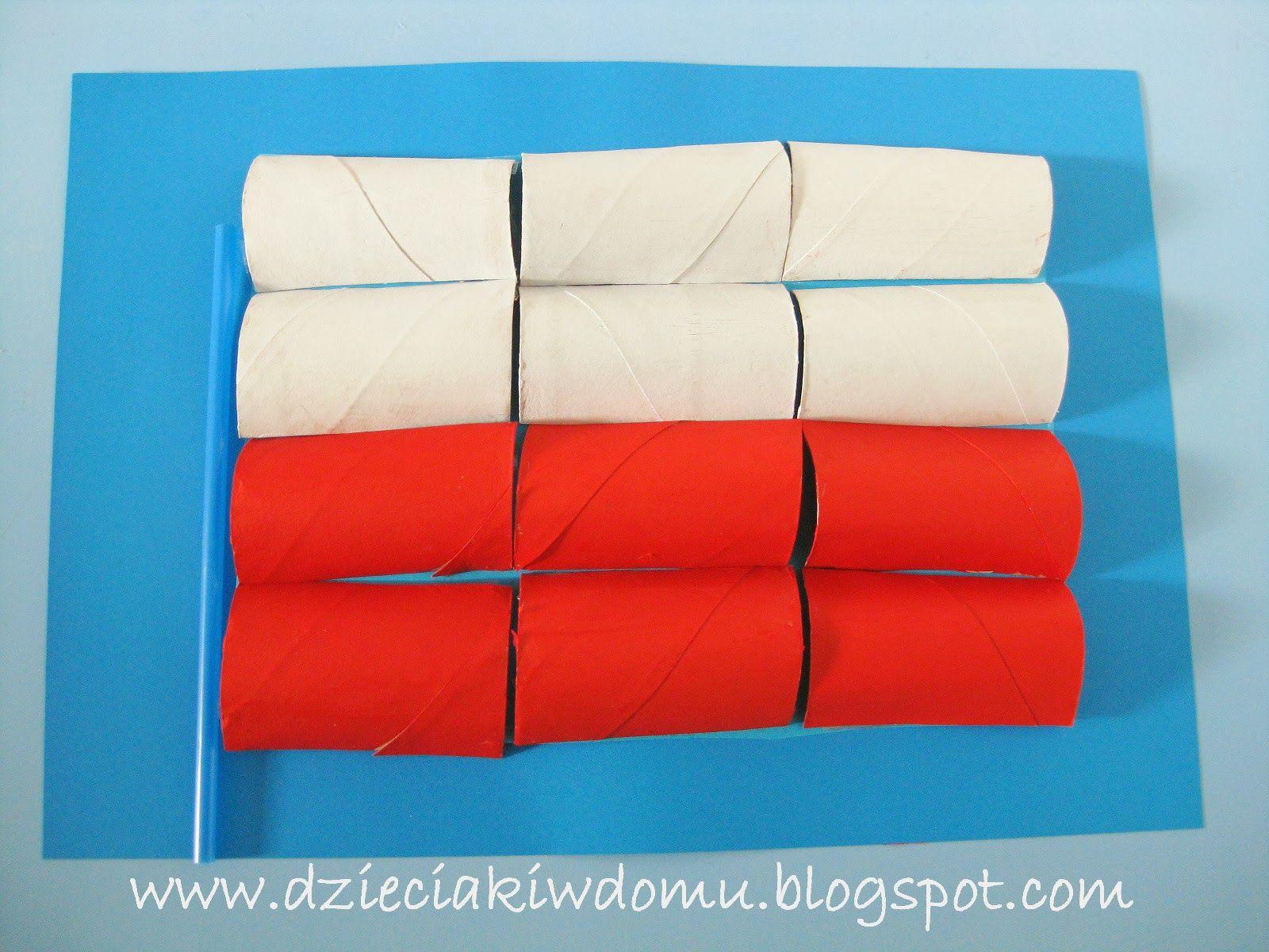 Flaga Polski Z Rolek Praca Plastyczna Dla Dzieci
