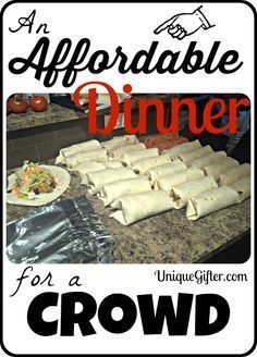 Affordable Dinner for a Crowd - Unique Gifter