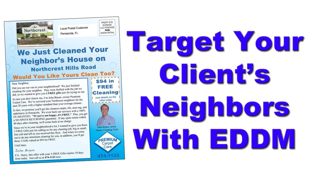 Target Client S Neighbors For Cleaning Business With Eddm Postcards
