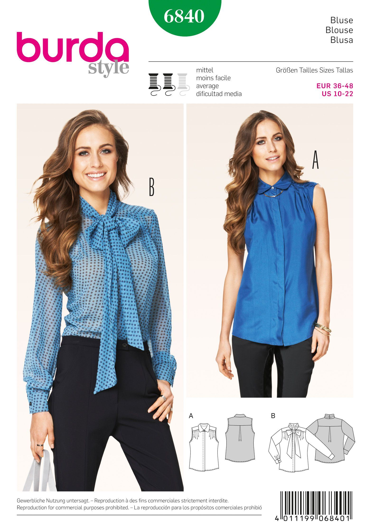 burda Schnittmuster Bluse 6840 | OMG, I wanna make this! | Pinterest ...