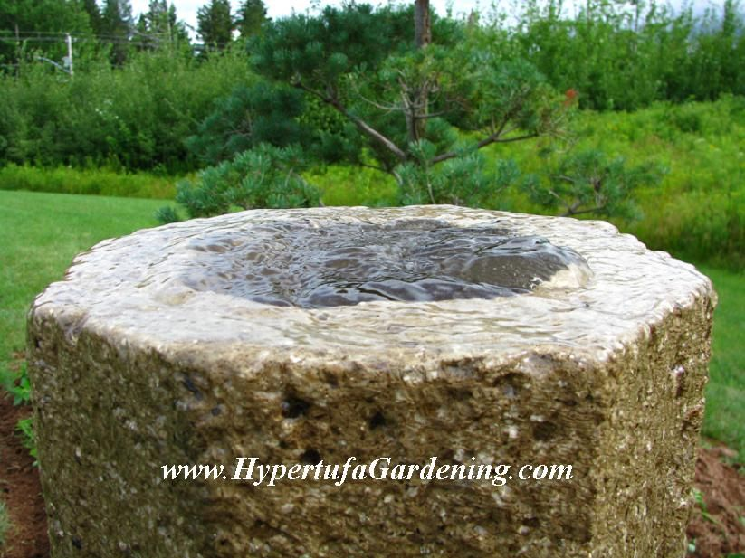Hypertufa Fountain. Like A Shallow Well With A Wide Rim. Possibly Make It  Larger