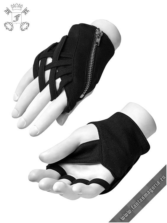 WS-253SSF/BK-MA Scarab gloves by Punk Rave (SOLD AS PAIR) | Fantasmagoria.shop - retail & wholesale Gothic clothes and accessories