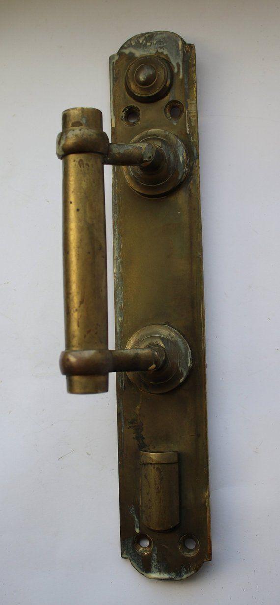 Big Antique Brass Handle Soviet Doorhandle Vintage Metal Door Handle Vintage Doorhandle Knocker Antique Brass Door Handles Brass Door Handles