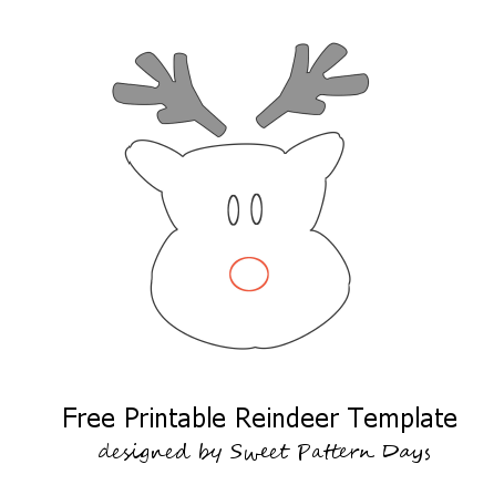 Reindeer Template Cut Out Christmas Decor Pinterest Christmas