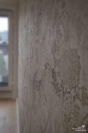 Wandgestaltung im Wohnzimmer - Modernes Grau mit viel Struktur