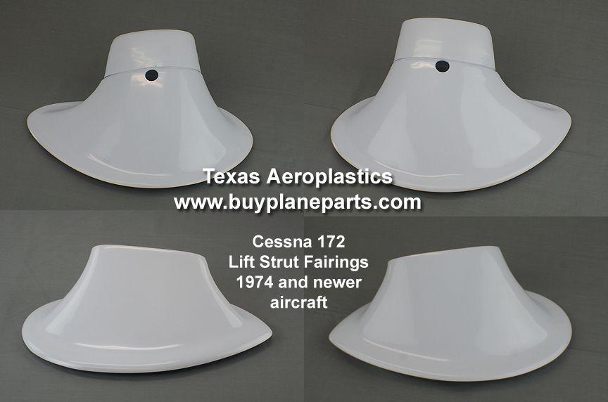 Late model Cessna 172 Lift Strut Fairings, Set of four  OEM