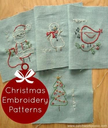 Free Christmas Embroidery Designs All Things Christmas Pinterest