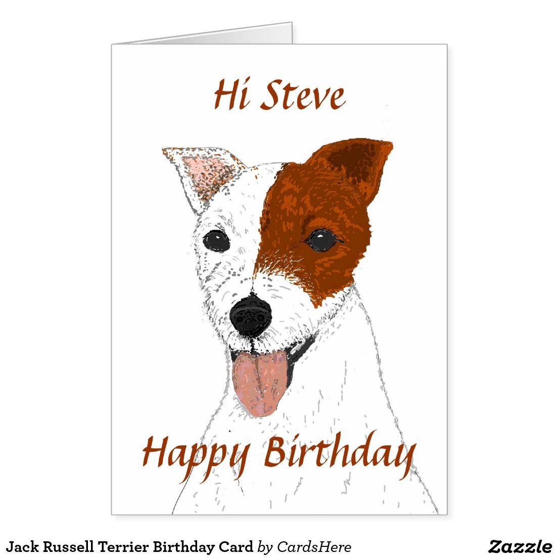 Jack Russell Terrier Birthday Card Jack Russell Jack Russell Terrier Birthday Cards