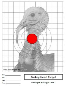 Gratifying image throughout printable turkey target