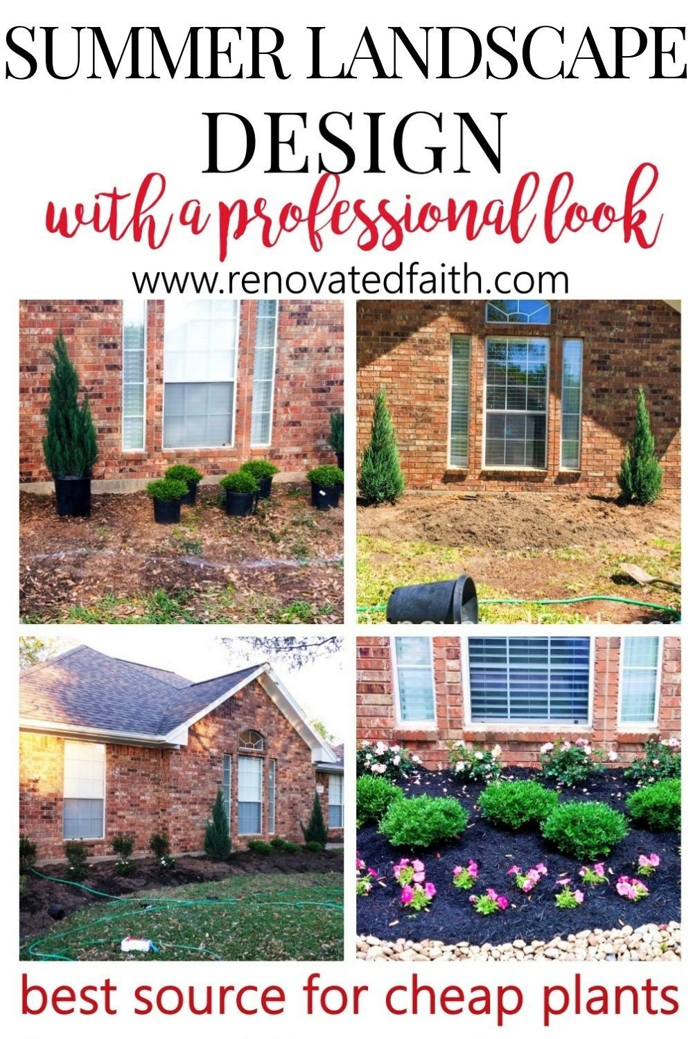 Simple Front Yard Landscaping Ideas On A Budget Diy Landscape Design Front Yard Landscaping Simple Yard Landscaping Simple Diy Landscaping