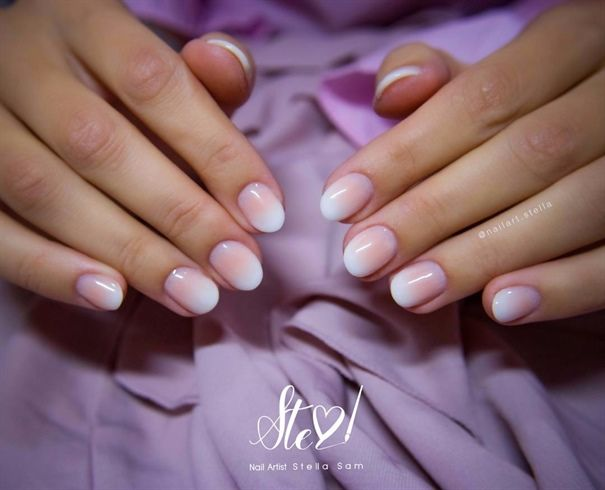 Short Nails French Fade By Stellasam From Nail Art Gallery French Nails French Manicure Acrylic Nails French Fade Nails
