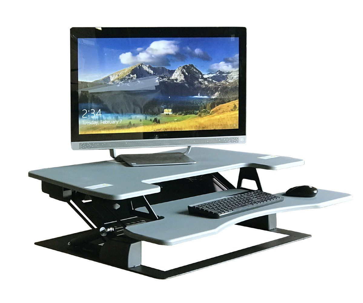Fancierstudio standing desk riser desk extra wide