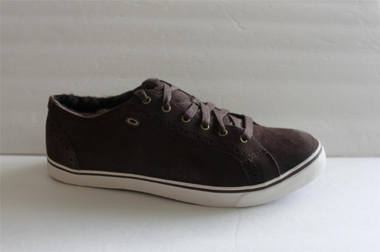 ac6c857fef61 Ugg Australia Men s Shoes Size 14 M Roxford Brown Leather Fashion Sneaker  NIB