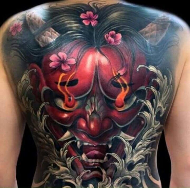 Tatto Hannya Back Tattoo Japanese Tattoo Designs Tattoos