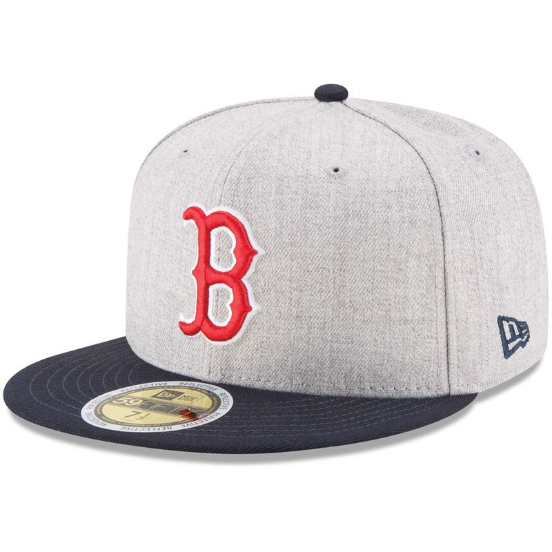 huge selection of 12833 2dc3c Boston Red Sox New Era Heather Hit 59FIFTY Fitted Hat - Heathered Gray Navy